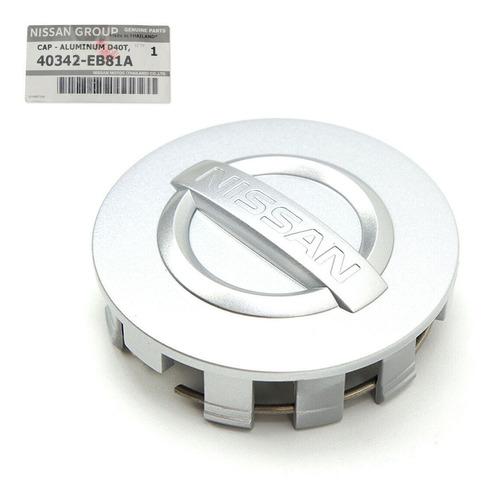 tapa central cono de rueda gris nissan np300 - original
