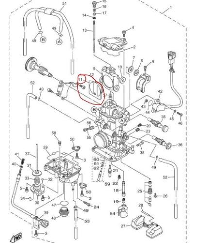 tapa cortina carburador keihin fcr yzf 400 426 solomototeam
