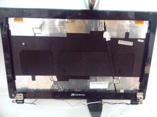 tapa cover display laptop gateway nv55 roja
