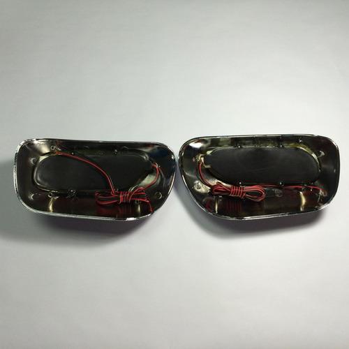 tapa cromada con led para retrovisores corolla new sensation