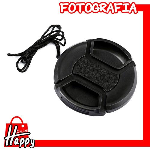 tapa - cubierta para lentes 49mm canon/nikon/pentax/etc