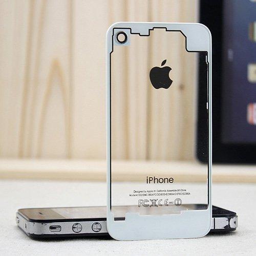 73a0cf4d57b Tapa De Bateria Blanco O Negro Transparente iPhone 4/4s Omm ...