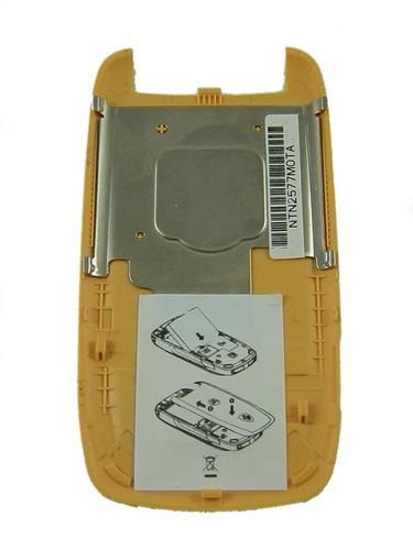 tapa de bateria nextel i897 amarillo ferrari