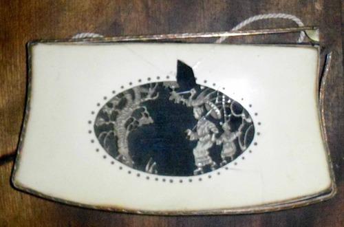 tapa de cartera japon simil marfil rota 9 x 17 cm. c.194?