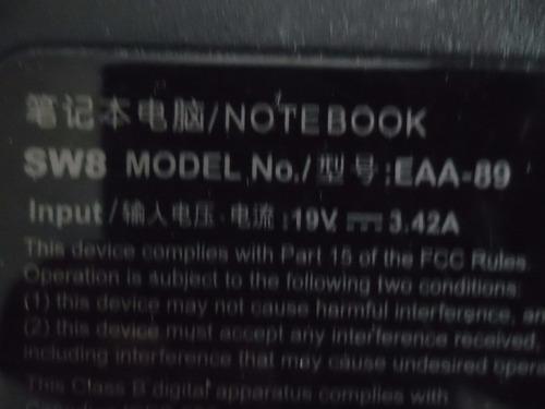 tapa de display para notebook eurocase sw9 e4 smart #1 negra