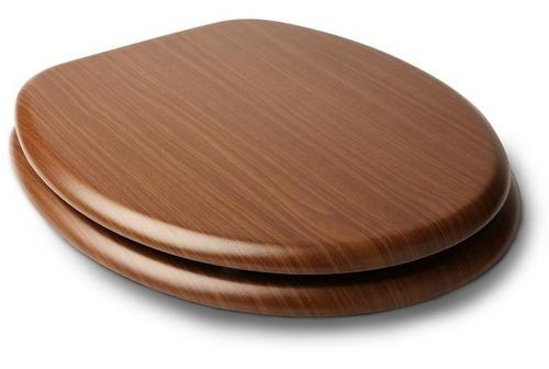 tapa de inodoro en mdf estilo madera roble oscuro