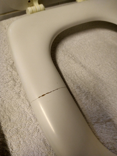 tapa de inodoro usada