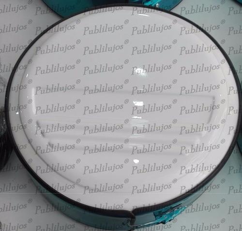 tapa de lujo blanca + aro de acero cromado universal oferta