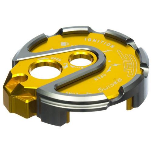 tapa de switch para moto bws sep en aluminio-amarillo