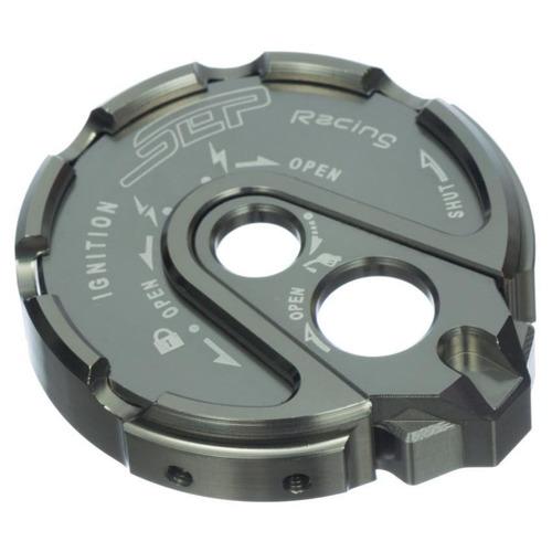 tapa de switch para moto bws sep en aluminio-cromado