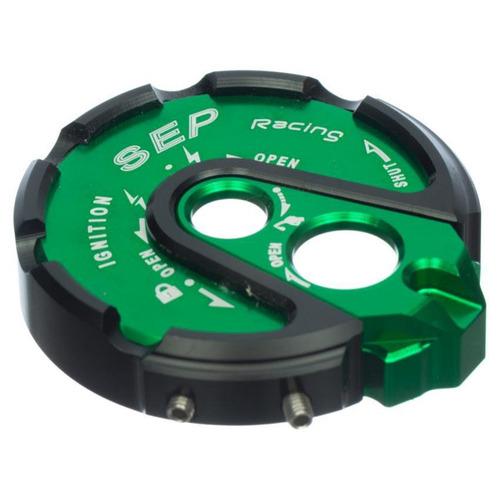 tapa de switch para moto bws sep en aluminio-verde