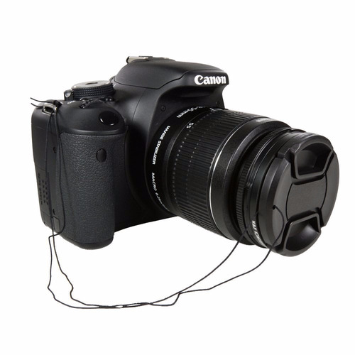 tapa delantera lente dslr 49mm nikon canon sigma etc