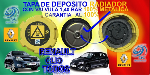 tapa deposito rad. renault  clio  reforzada 1.4b