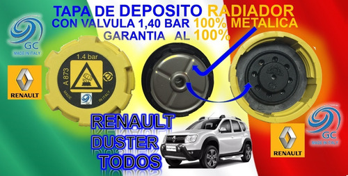 tapa deposito rad. renault  duster  reforzada 1.4b