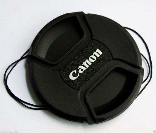 tapa filtro lente canon eos 58mm correa t2i t3i 60d 7d 5d
