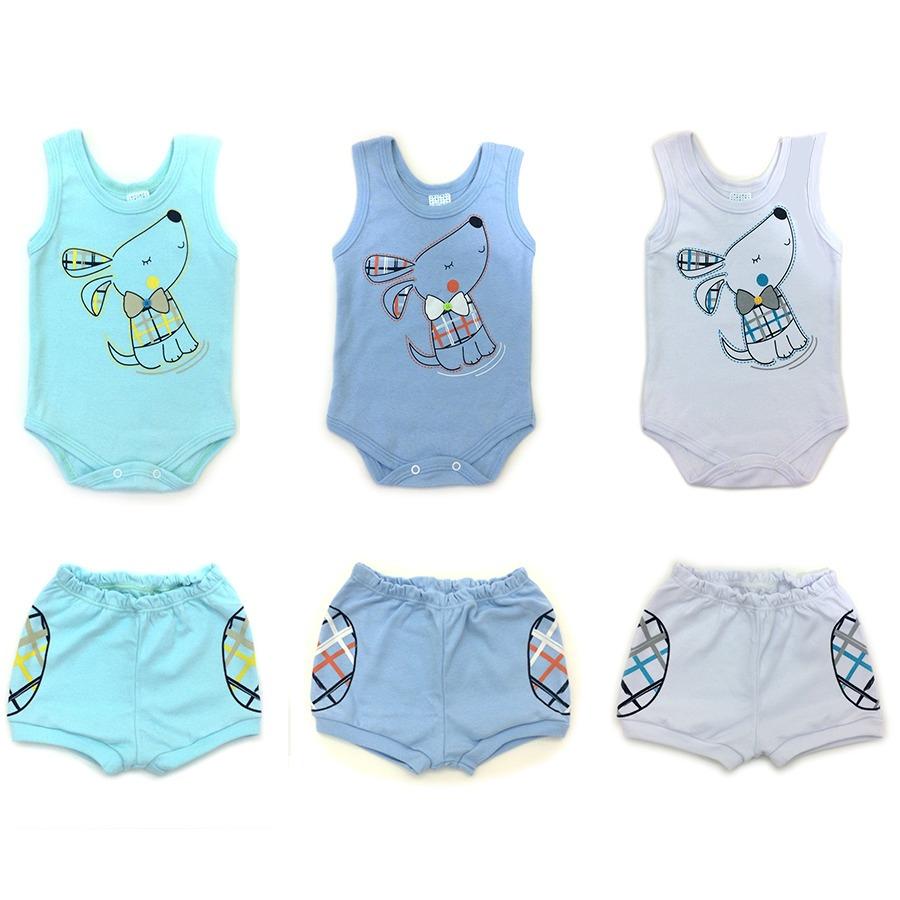 Tapa Fralda + Body Regata Infantil Bebe Menino Kit 6 Pçs - R  69 673b56141a4