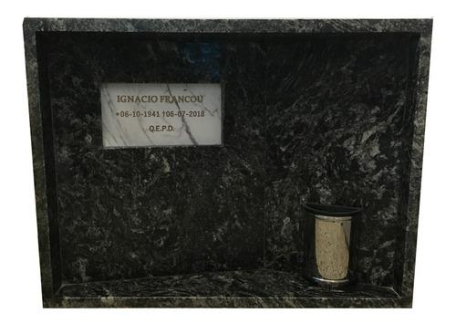tapa frente para nicho, de mármol. lápida, reforzada. 75x60.