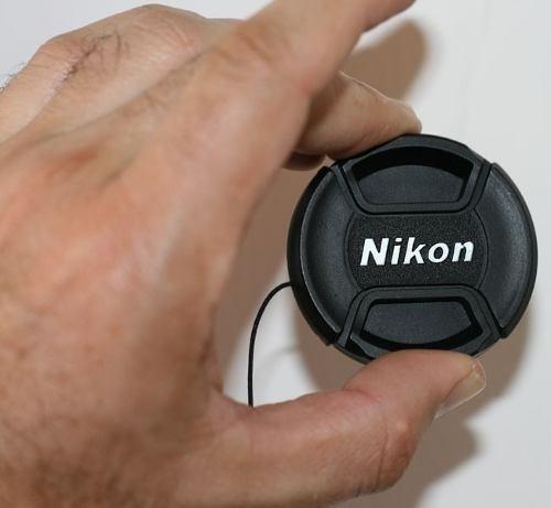 tapa frontal para nikon 58mm