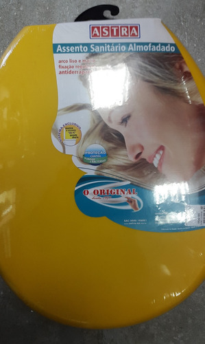 tapa indoro acolchada baño color amarilla