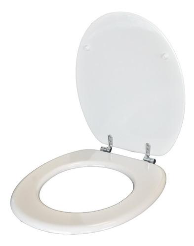 tapa inodoro blanco universal en mdf con herrajes metálicos