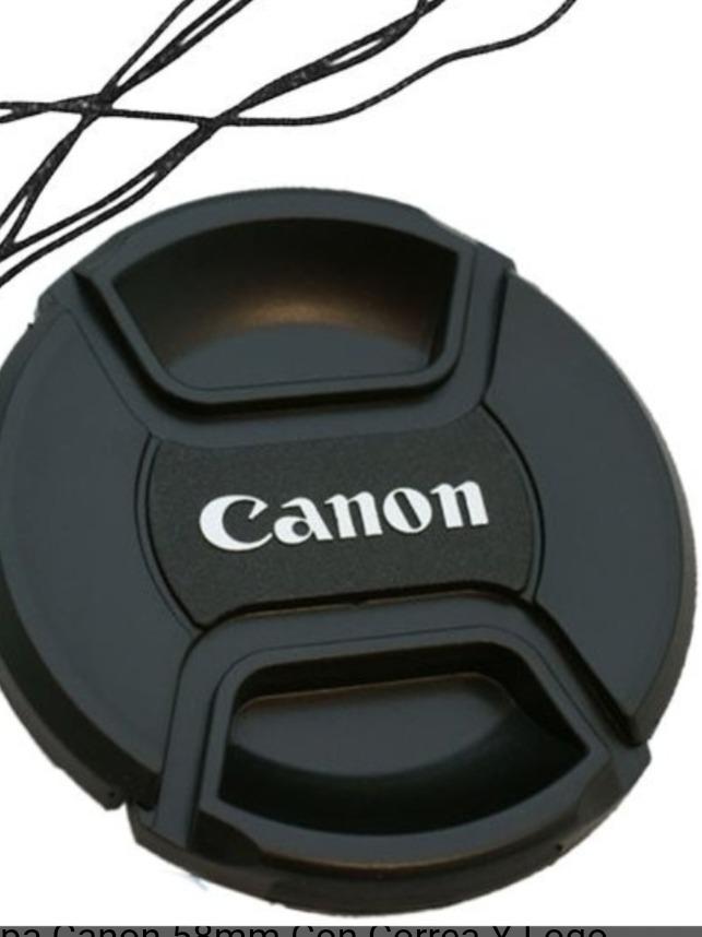 Tapa generica modelo clip Canon 58mm