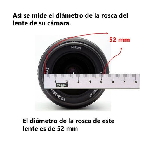 tapa lente canon ultrasonic 62 mm generico