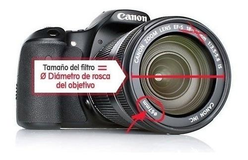 tapa lente con logo canon diametro 58mm nuevas