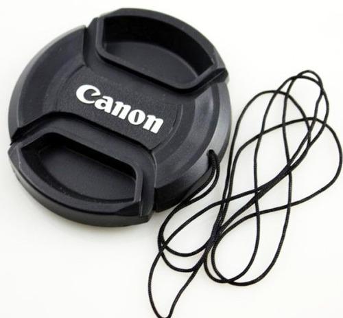 tapa lente frontal canon ø58mm lente  canon 18-55mm + cuerda