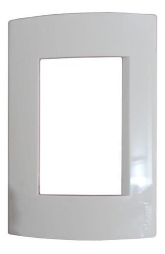 tapa marco para llave de luz blanco - todoenled