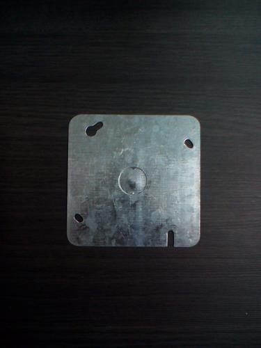 tapa metálica ciega 4x4 galvanizada
