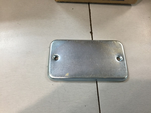 tapa metalica rectangular de 2x4pulg sin hueco, biemca