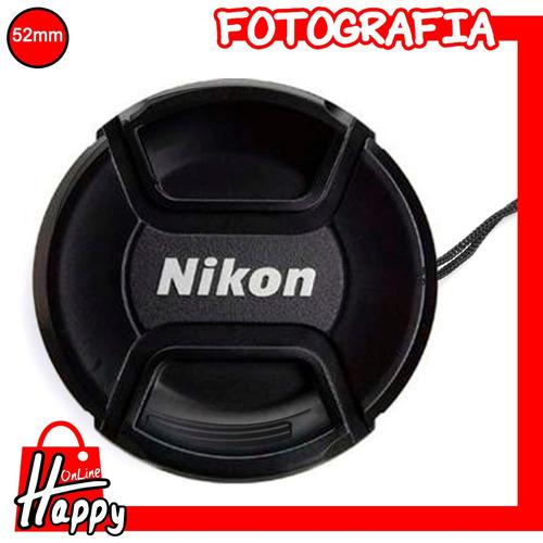 tapa orginal nikon - cubierta para lentes 52mm