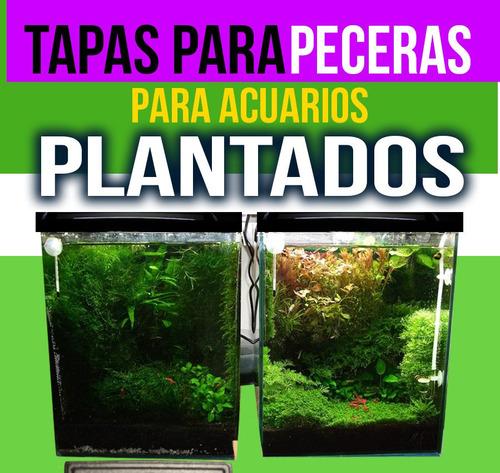 tapa p pecera con led p/ acuario plantado 100x30 + luzdeluna