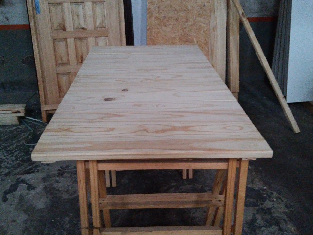 Tapa para caballetes o mesa de madera maciza gran oferta - Caballetes para mesas ...