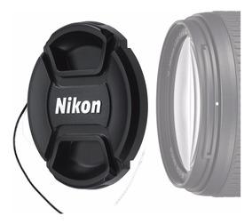 Para Nikon Cámara Lente Tapa 52mm Delantero Waterresistant con Correa