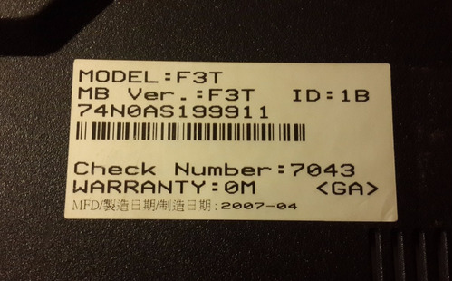 tapa plastica inferior del disco duro notebook asus f3t