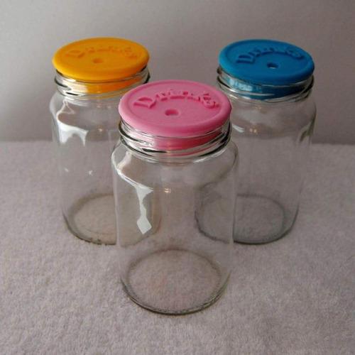 tapa plastica para frasco vidrio amanecer 360 vaso trago
