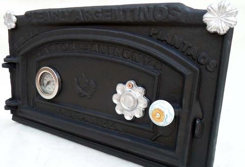 tapa puerta horno barro astor rectif +chime +envio gratis mc
