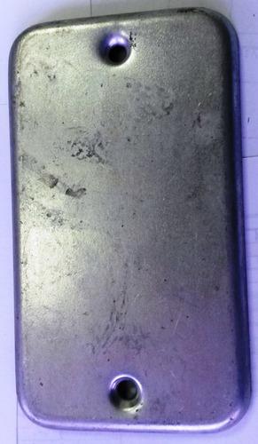 tapa rectagular de 4 x 2 metalicas precio por 11 unidades
