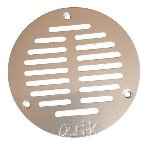 tapa rejilla coladera redonda aluminio uni-k