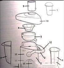 tapa repuesto para extractor de jugos 3167 y 3168 oster
