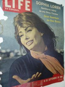 Tapa Revista Life En Español 1961 Set 18 Sophia Loren