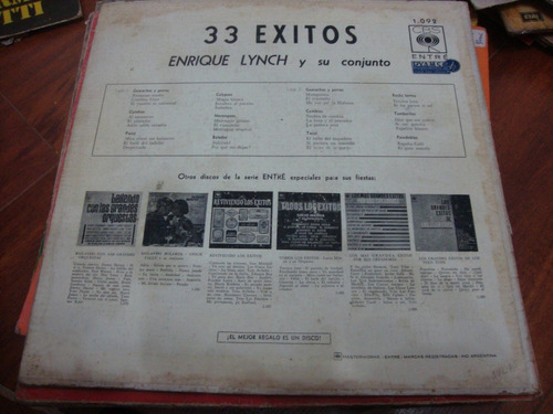 tapa sin disco enrique lynch 33 exitos
