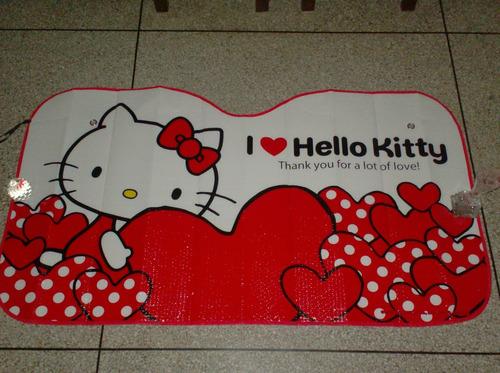 tapa sol para carro de hello kitty