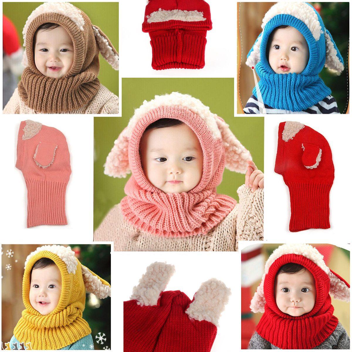 Tapa Sombrero Crochet Capucha Lindo Caliente Niñas Bufanda ... a88dccbb31a
