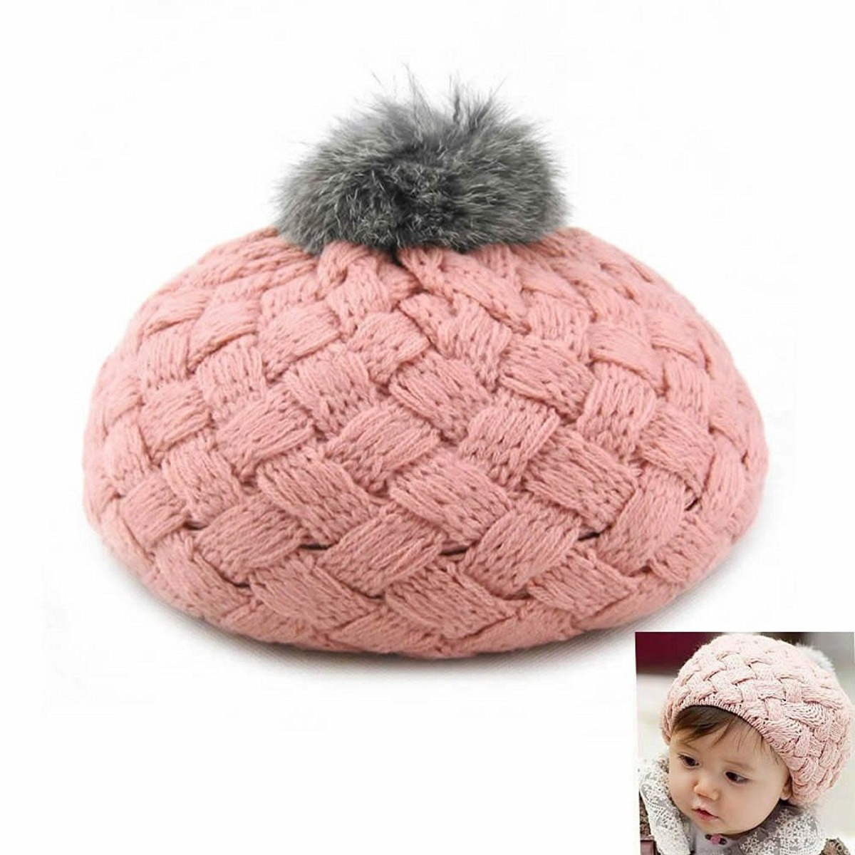 Tapa Sombrero Crochet Capucha Lindo Caliente Niñas Bufanda ... 0c0a0c92ed0