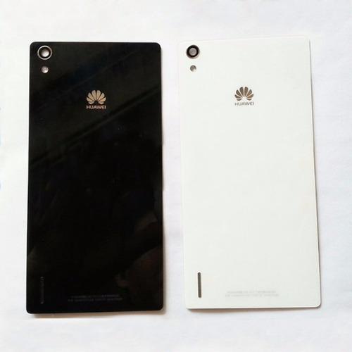 tapa trasera celular huawei p7, negro, blanco