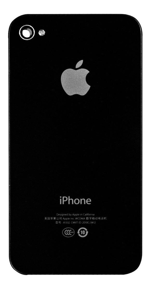 0c8449c53e3 Tapa Trasera iPhone 4 4g Negra - Bs. 9.000,00 en Mercado Libre