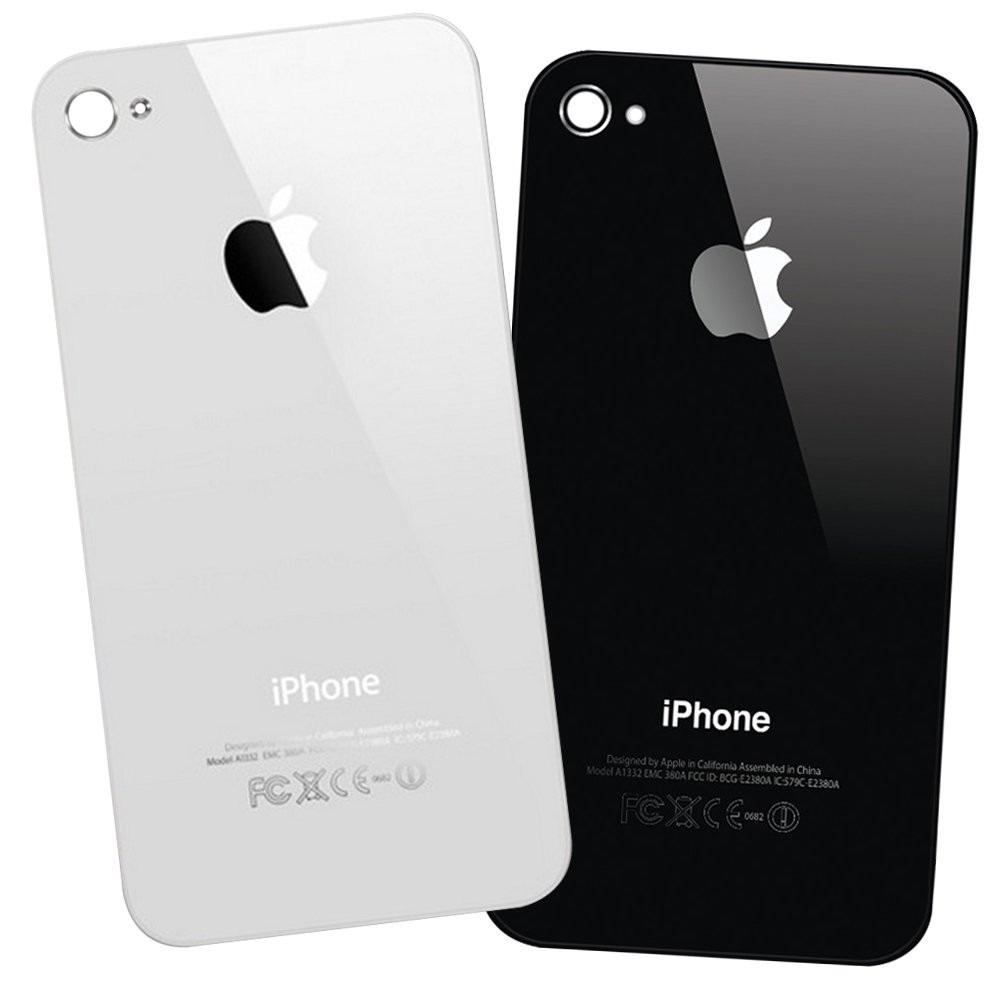 7e9f82e69c8 tapa trasera vidrio iphone 4 4s 4g original negro / blanco ! Cargando zoom.