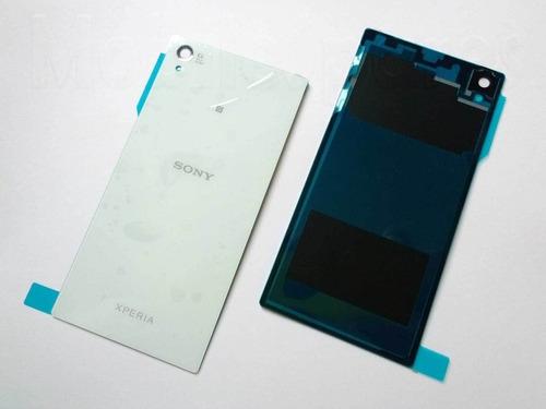 tapa trasera xperia z2 original blanca negra morada adhesivo